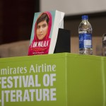 Christina Lamb at her sessions- Hearing Malala at the Emirates Airline Festival of Literature