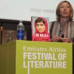 Hearing Malala, Christina Lamb at the Emirates Airline Festival of Literature